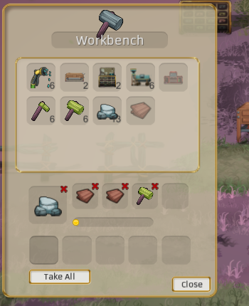 You can now cancel something that you are crafting at the workbench. You get back 100% of your materials!